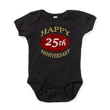 Cool 25th wedding Baby Bodysuit