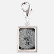 Dandelion seeds Silver Portrait Charm