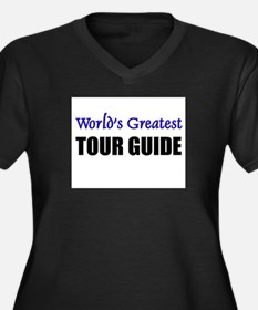 Worlds Greatest TOUR GUIDE Women's Plus Size V-Nec