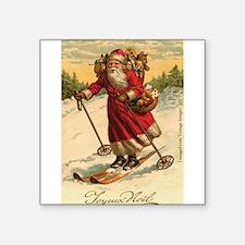 "Cute Antique vintage christmas Square Sticker 3"" x 3"""