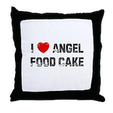 I * Angel Food Cake Throw Pillow