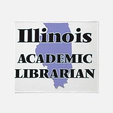 Illinois Academic Librarian Throw Blanket