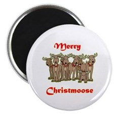 """Merry Christmoose 2.25"""" Magnet (10 pack)"""