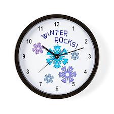 Winter Rocks Wall Clock