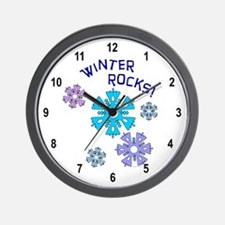 Winter Rocks Wall Clock