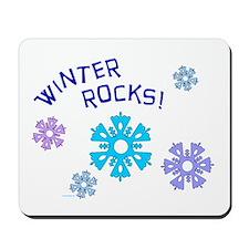 Winter Rocks Mousepad