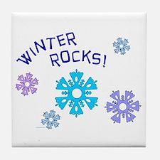 Winter Rocks Tile Coaster
