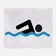 Cute Swimmer Throw Blanket