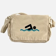 Cute Swimming Messenger Bag