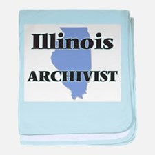 Illinois Archivist baby blanket
