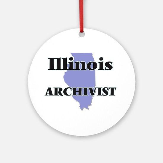 Illinois Archivist Round Ornament