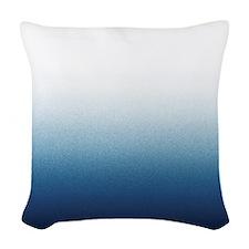 Beautiful Indigo Blue Ombre Woven Throw Pillow