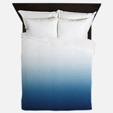 Beautiful Indigo Blue Ombre Queen Duvet