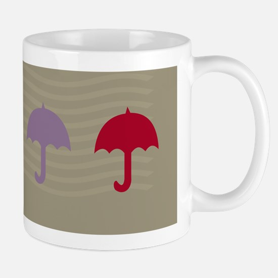 Dreamy Umbrellas Beige Mugs