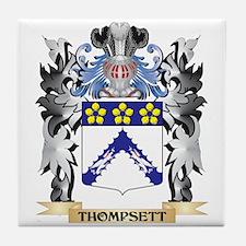Thompsett Coat of Arms - Family Crest Tile Coaster