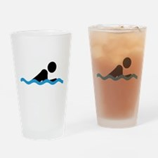 breaststroke Drinking Glass