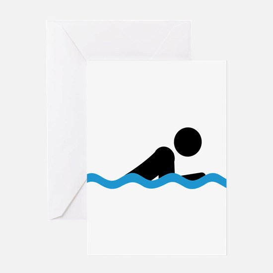 breaststroke Greeting Cards