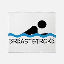 breaststroke Throw Blanket