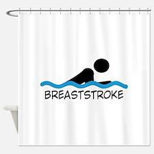 breaststroke Shower Curtain