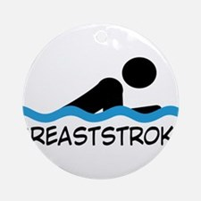 breaststroke Round Ornament