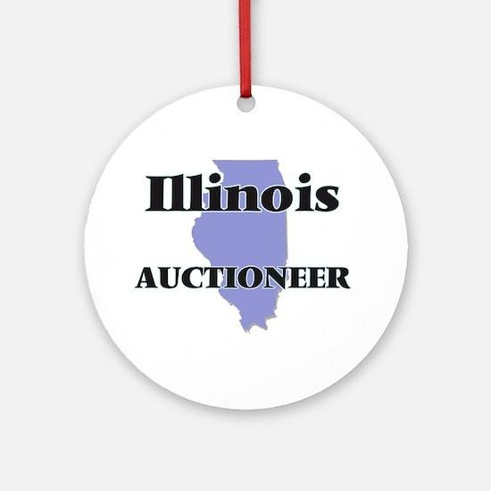 Illinois Auctioneer Round Ornament