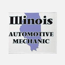 Illinois Automotive Mechanic Throw Blanket
