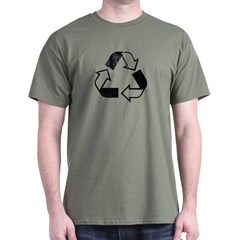 RECYCLE -retro Army T-Shirt