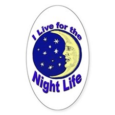 Night Life Party Oval Decal