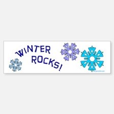 Winter Rocks Bumper Bumper Bumper Sticker