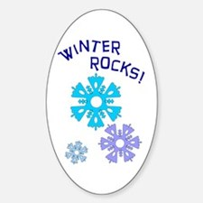 Winter Rocks Oval Decal