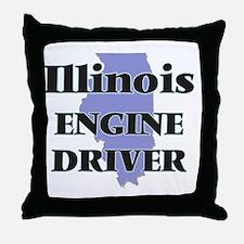 Illinois Engine Driver Throw Pillow