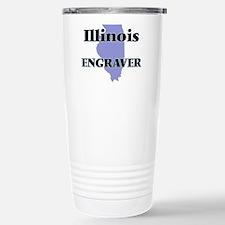 Illinois Engraver Stainless Steel Travel Mug
