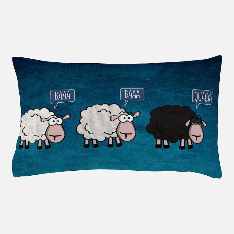 Cute Black sheep Pillow Case