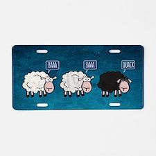 Cute Black sheep Aluminum License Plate