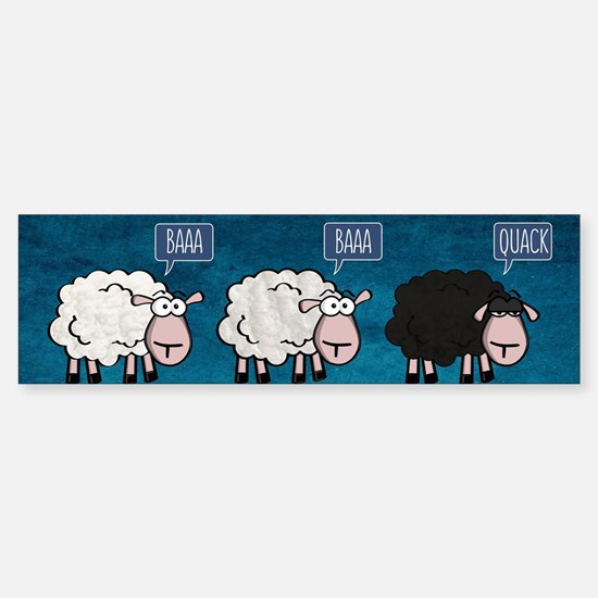 Bored Sheep Bumper Car Car Sticker