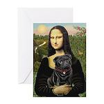 Mona's Black Pug Greeting Card