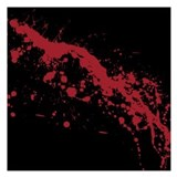 Blood splatter 5.25 x 5.25 Flat Cards