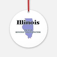 Illinois Inland Revenue Tax Inspect Round Ornament