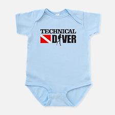 Cute Cave diver Infant Bodysuit