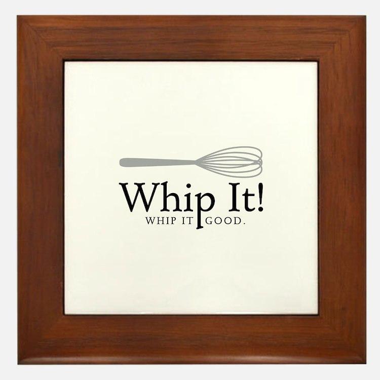 Whip It Framed Tile