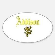 Addison. Oval Decal