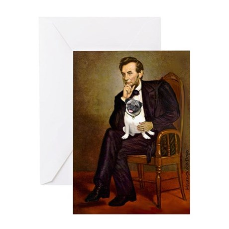 Lincoln's Pug Greeting Card
