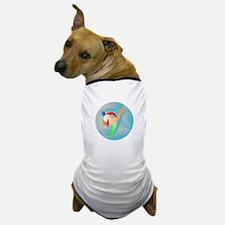 Taekwondo Fighter Kicking Circle Retro Dog T-Shirt