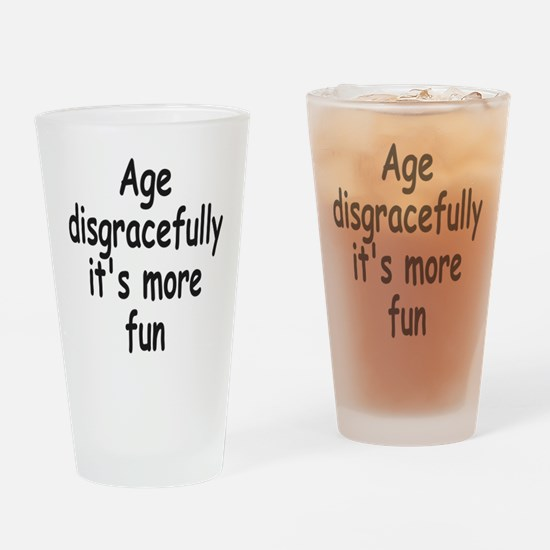 Disgracefully 2 Drinking Glass