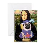Mona & Sir Pug Greeting Cards (Pk of 20)