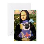 Mona & Sir Pug Greeting Card