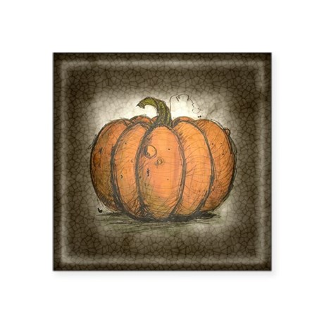 Pumpkin Ink Illustration Sticker