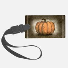 Pumpkin Ink Illustration Luggage Tag