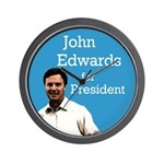 John Edwards for President Wall Clock