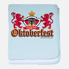 Oktoberfest Lions baby blanket